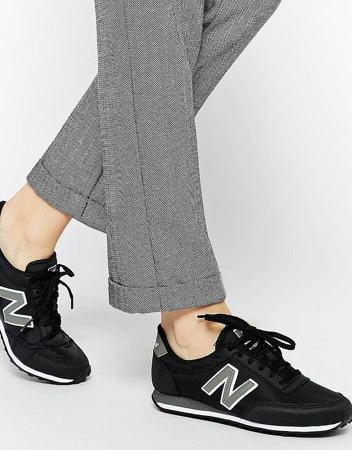 Copy Gigi Hadid's look with these New Balance 410 Black Sneakers ($98)
