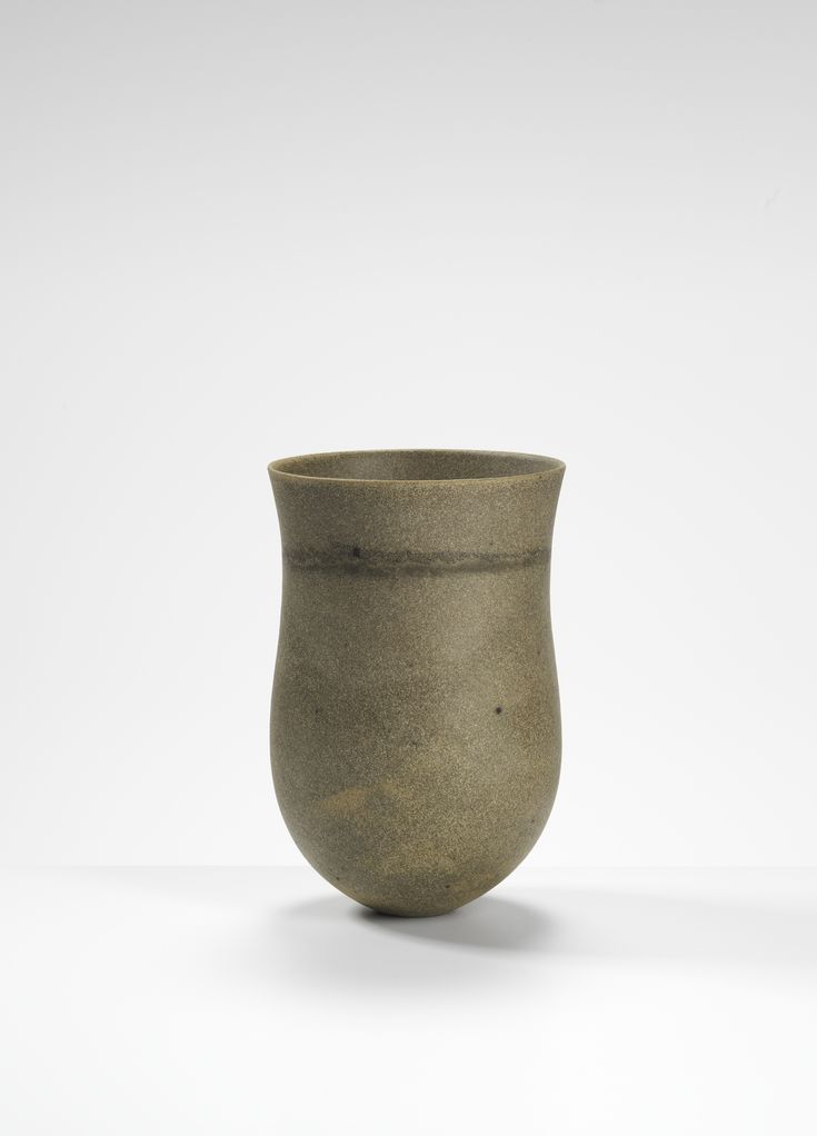 Jennifer Lee, Smoky sand-grained, shadowed traces, 2007 Handbuilt coloured stoneware, 23.5 cm (h) #jenniferlee #ceramic