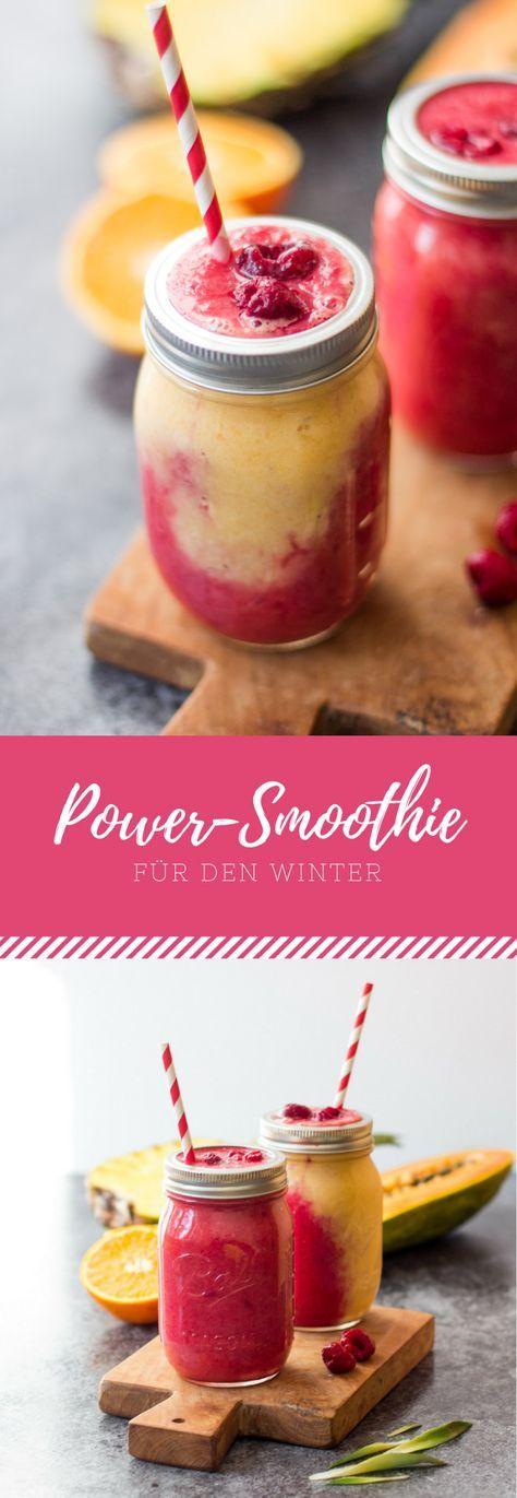 Ein deutsches Rezept für Power-Smoothie für den Winter.