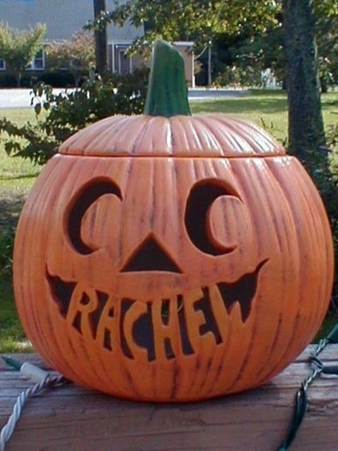 Pumpkin Carving Ideas: Personalized Name Pumpkin