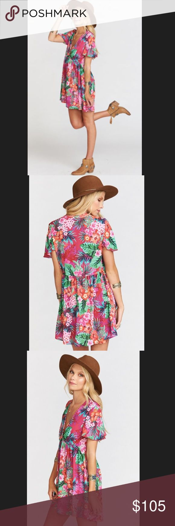 Show Me Your Mumu Austin Dress Aloha Beautiful S Show Me Your Mumu - Austin Dress - Aloha Beautiful - size Small (Brand New With Tags) ***Never Worn*** same print worn on Bachelor in Paradise by Sarah Vendal Show Me Your MuMu Dresses Mini