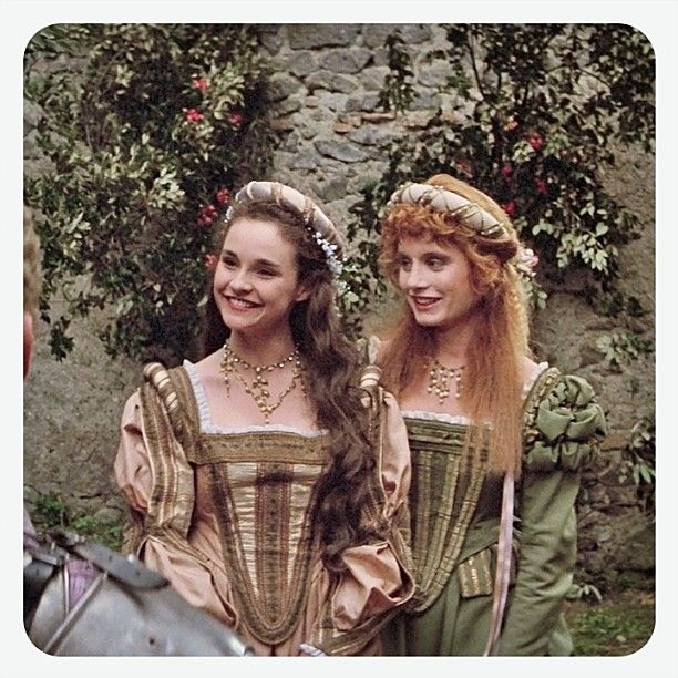 Bill and Ted's Excellent Adventure (1989) Directed by Stephen Herek. Diane Franklin as Princess Joanna (Left) and Kimberley Kates as Princess Elizabeth. Both actresses were recast for the sequel. #billandtedsexcellentadventure #stephenherek #dianefranklin #kimberleykates #medievalbabes #princessjoanna #princesselizabeth #1989 #excellent #bogus #heinous #nonheinous by glazyuk