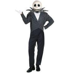 Jack Skellington Mens halloween fancy dress Costumes