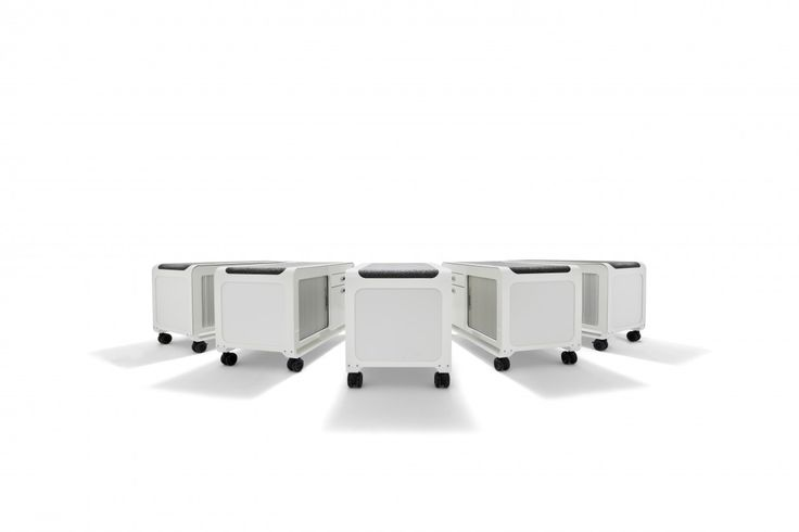 The Casino Mobile Storage Solution is available in 2 and 3 drawer versions with standard powdercoat finishes of silver and white frames with frosted white side panels and as a mobile caddy with tambour door access.
