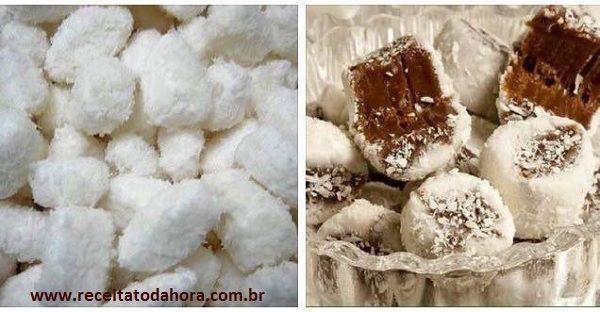 A Bala de Coco Que Não Vai Ao Fogo é muito mais prática e fácil de fazer que a bala de coco tradicional e também fica mais macia e derrete na boca. Se você