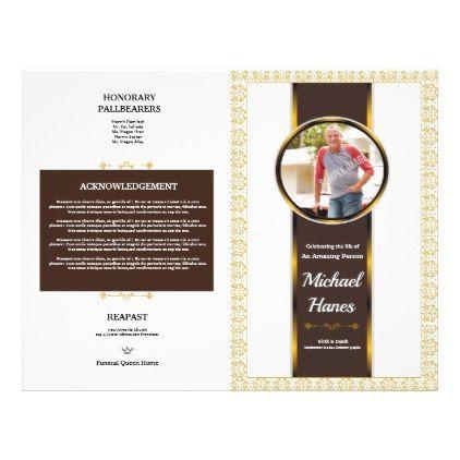 Funeral Program Flyer Template - template gifts custom diy customize