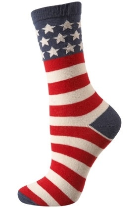 American Flag Ankle Socks - Tights & Socks - Clothing - Topshop - StyleSays