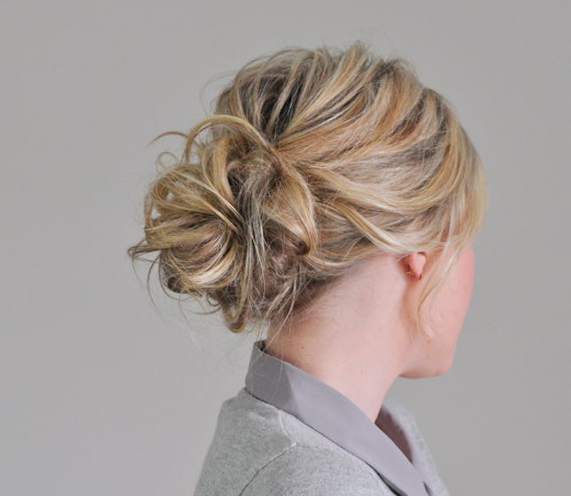 You Woke Up Like This: 16 Messy Updos via Brit + Co