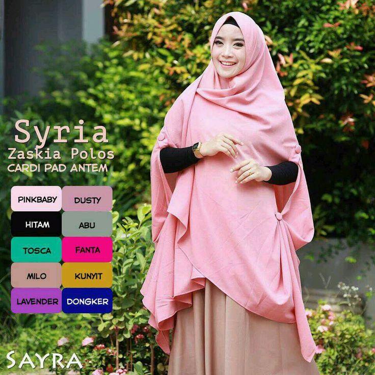 Jilbab Hijab Syari Zaskia Cardi Pad Antem - http://bit.ly/2hUVBQY