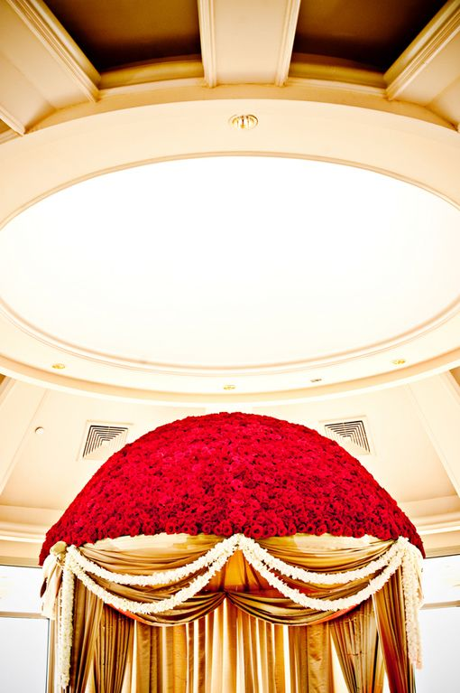 Red Rose Mandap on IndianWeddingSite.com
