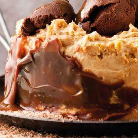 Peanut butter fridge cake