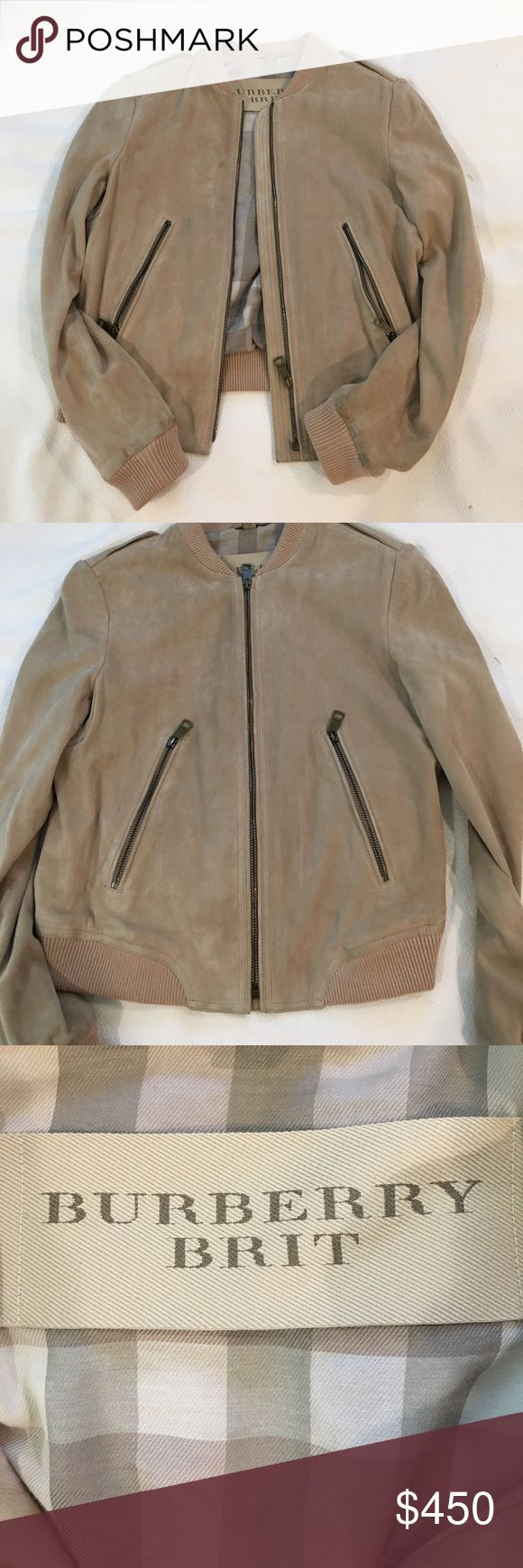 Burberry Brit suede bomber jacket Fantastic condition, only worn a handful of times. Originally purchased from Saks Off Fifth so tags do have some pen markings to indicate their price reductions. Burberry Jackets & Coats