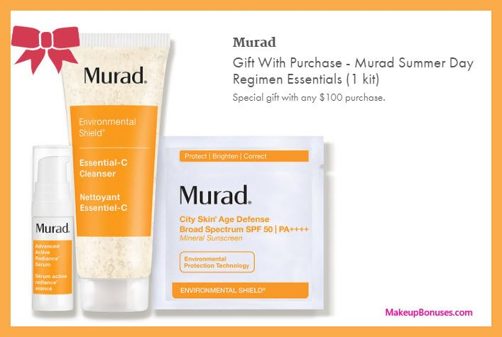 Dermstore Free Murad Bonus Gifts With Purchase Dermstore Murad Summer Nationalsplurgeday Skincare More At Http Makeupb Dermstore Discount Beauty Gifts