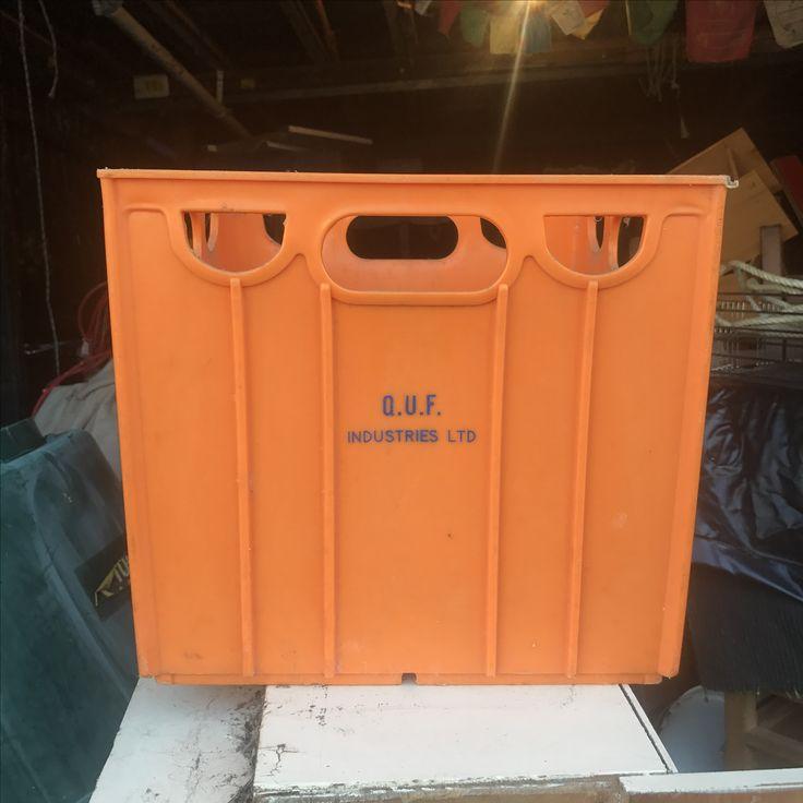 Retro milk crate