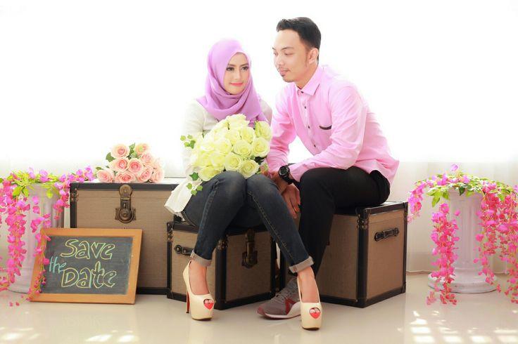 Prewedding Hijab Flower