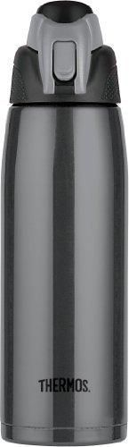Thermos Vacuum Insulated 24 Ounce Stainless Steel Hydration Bottle Charcoal