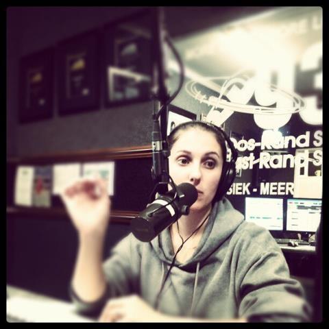 My wife the radio presenter