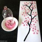 Soda Bottle Cherry Blossoms