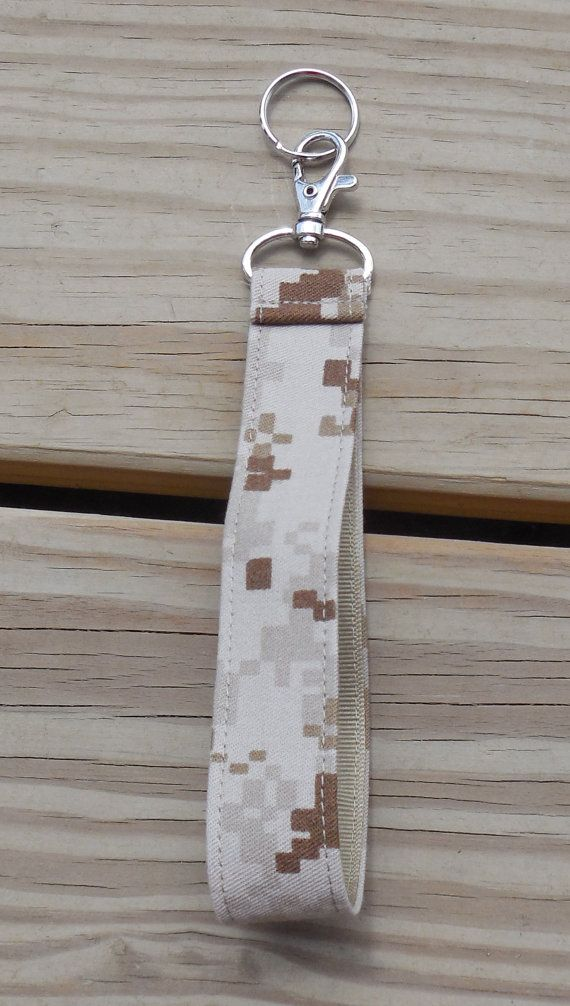 US Marines Military Key FobTan Marpat Camo by GabbysQuiltsNSupply