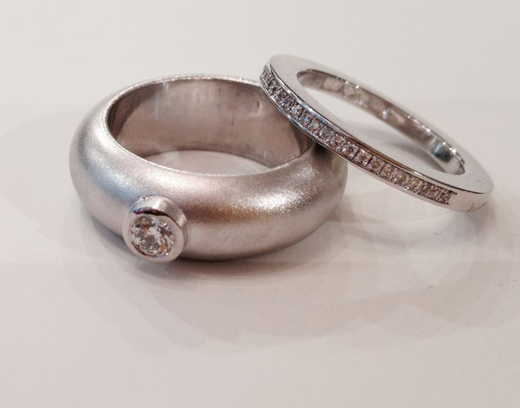 Wedding, engagement, or just a beautiful gift... White gold and diamond rings.
