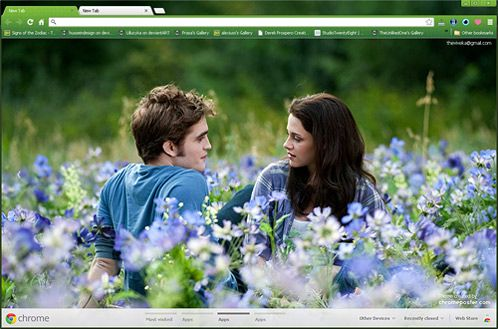 Bella and Edward Google Chrome Theme