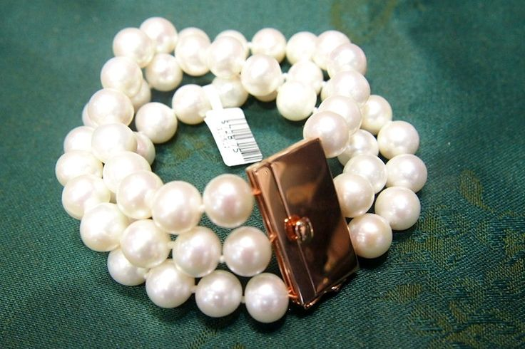 Jewellery-Bracelet-Designer- Pearl Perfection-Three Stand Pearl Bracelet with Rose Gold