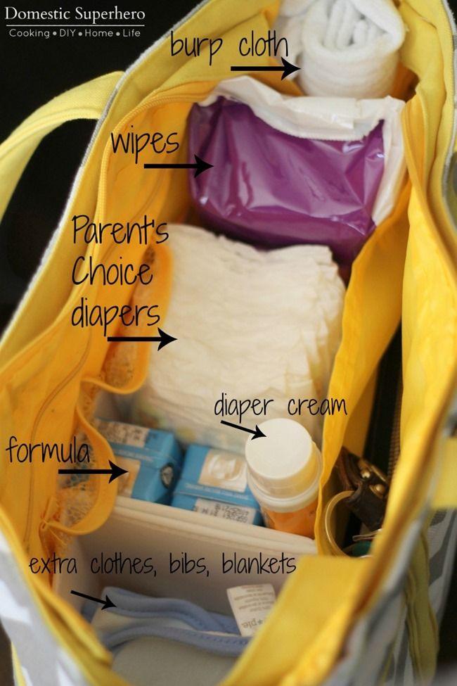 Image result for newborn diaper bag essentials