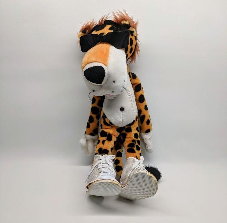 "Vintage Chester Cheetah 18"" Plush Stuffed Toy Doll Frito Lay Cheetos Advertising #vintagetoys"