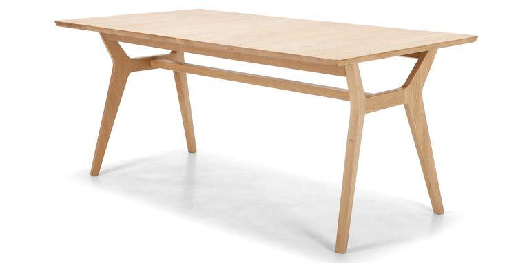 Jenson Extending Dining Table, Solid Oak | made.com