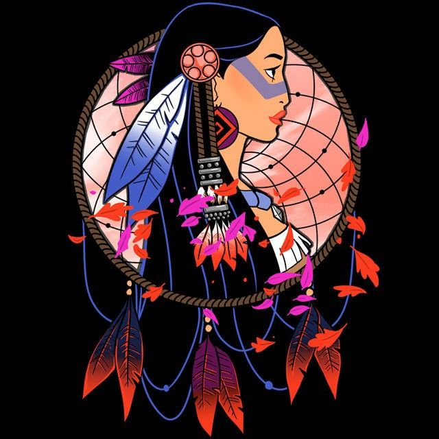 """Colors of the Wind"" by Ursula Lopez is $10 today at ShirtPunch.com (12/22). #tshirt #Pocahontas #DisneyPrincess"
