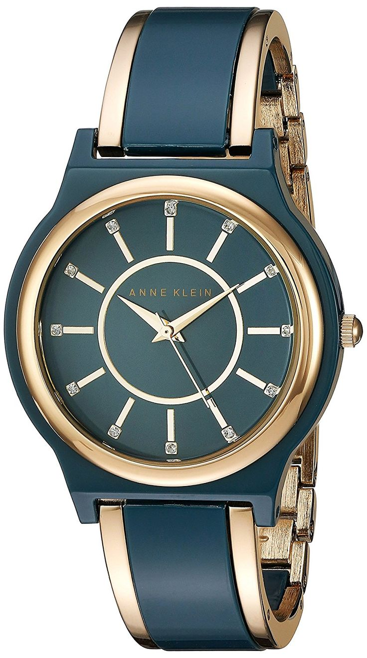 Anne Klein Women's Quartz Resin Dress Watch, Color:Blue (Model: AK/2344BLGB) ** You can find more details by visiting the image link.