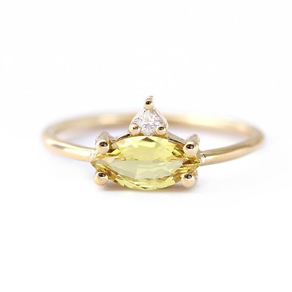 92199c84e8369 Sapphire Engagement Ring, 1 Carat Sapphire Ring, Marquise Engagement ...