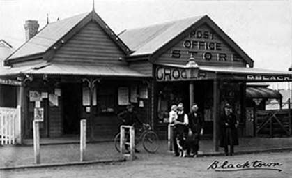 Blacktown Post Office, in Western Sydney in 1901. Photo shared by Dictionay of Sydney.  v@e.