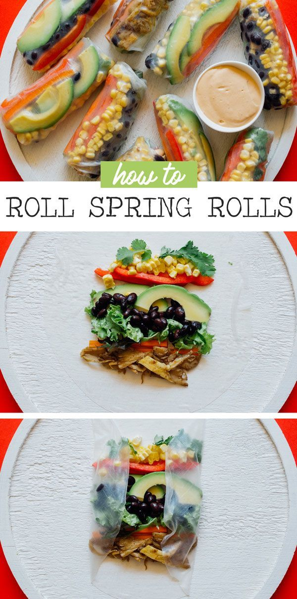 Southwest Spring Rolls Vegetarian W Easy Vegan Option Recipe Healthy Spring Rolls Cooking Chinese Food Spring Roll Recipe