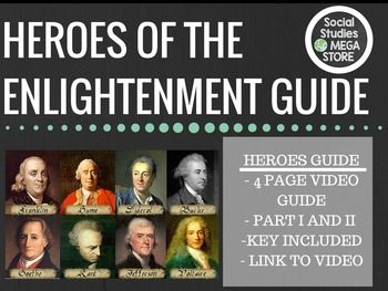 Heroes of the Enlightenment video guide w/Key BBC series Best ever!THE FIRST SEMESTER OF WORLD HISTORY THE WHOLE YEAR OF WORLD HISTORY This is a fantastic 2 day video series that covers everything from the Scientific Revolution to the American Revolution with Thomas Jefferson, French Revolution and the Industrial Revolution.
