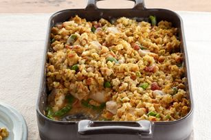 Il vous suffit de préparer ce plat et de le mettre au four pour obtenir un plat de poulet tendre et délicieux qui fera le bonheur de tous.
