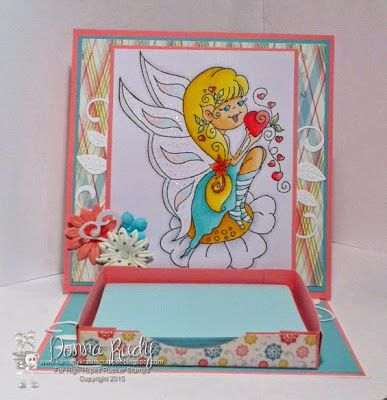 High Hopes Stamps: Easel card with Post It note holder by Donna using Julie's Dream (U502)