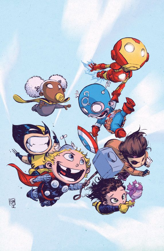 Baby Avengers + Baby X-Men /// by Scottie Young