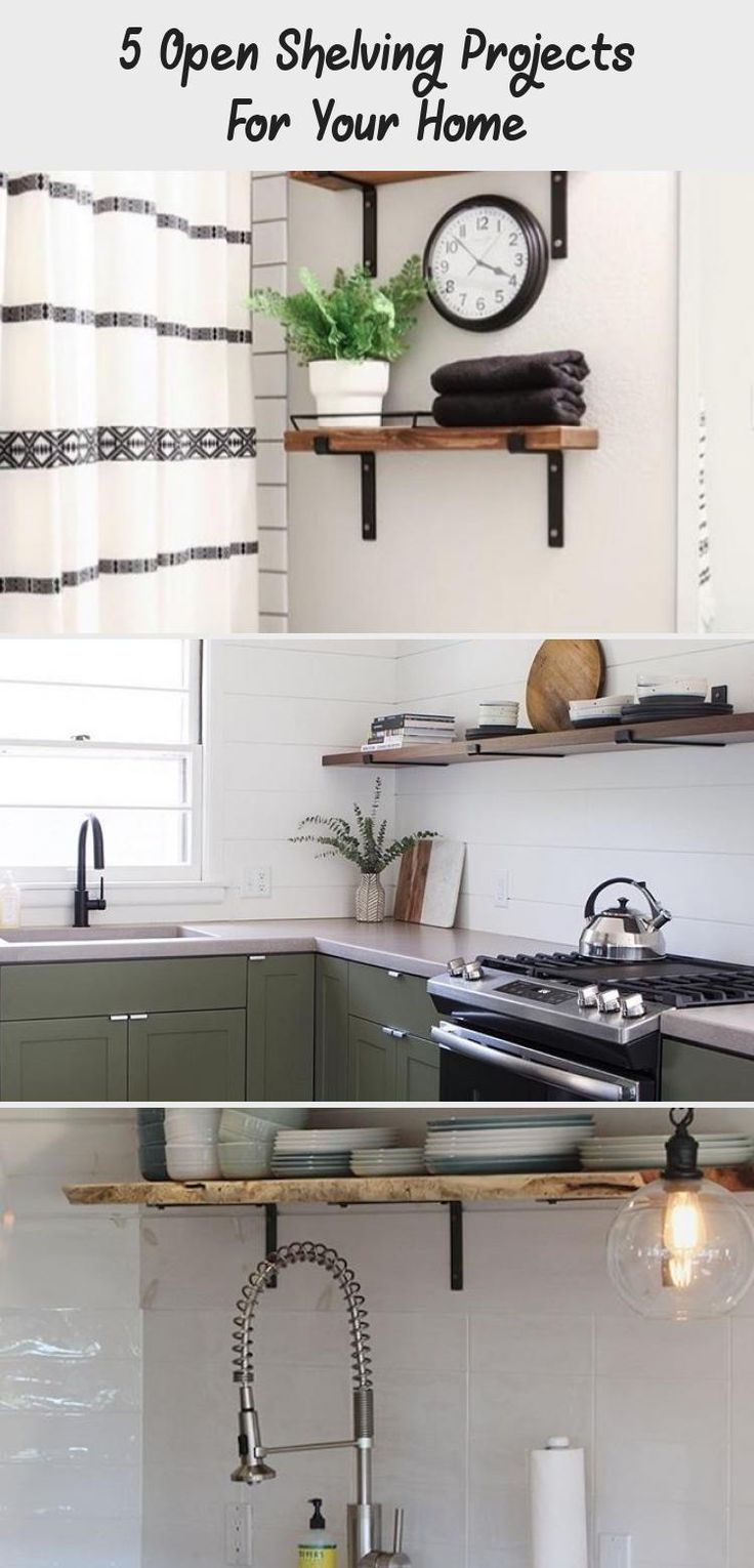 5 Open Shelving Projects For Your Home   – Bahtroom decor