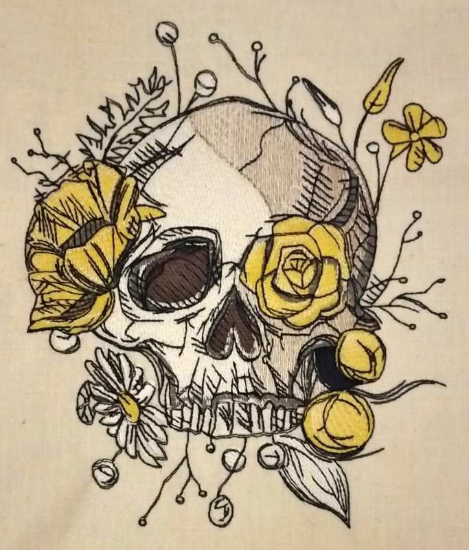 Skull Overgrown With Flowers 2 Skull Overgrown With Flowers 2