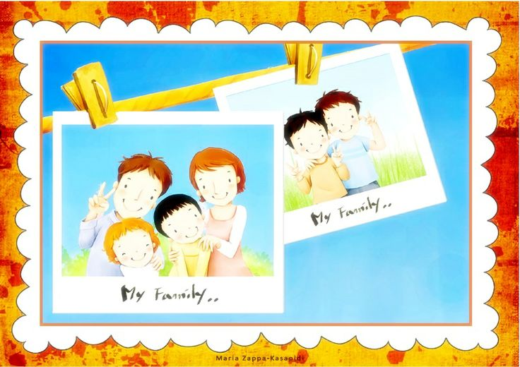"My 20 pages file named ""About my family"" is the perfect one for your students to learn all family related words and also the relations between family members'.  http://www.teacherspayteachers.com/Product/About-my-family-1191700"