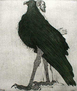 Leonard Baskin, etching