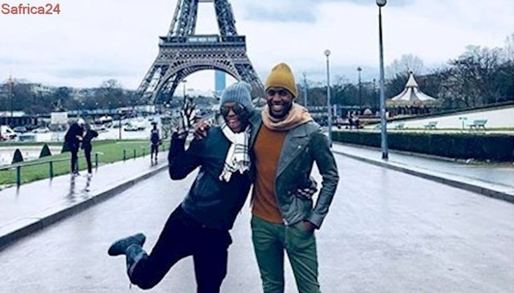 Somizi put a ring on it! And on a 'love lock' bridge in Paris #Levels