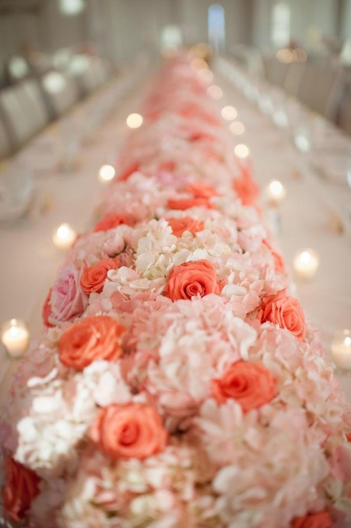 Coral and Pink Floral Wedding Centerpieces www.finditforweddings.com  coral wedding ideas