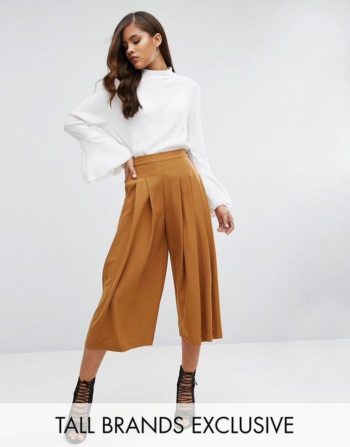 Y.a.s Tall Cama Pleated Full Culottes