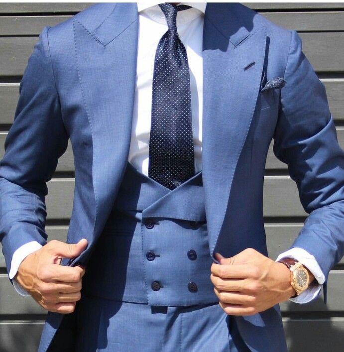 10 best Bruce images on Pinterest | Blue suit groom, 3 piece suits ...