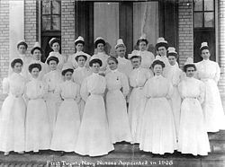 The Sacred Twenty were a group of exclusively female nurses who, during World War I, were the first female members to ever formally serve in the United States Navy representing the Nurse Corps. Officially formed in 1908, the Sacred Twenty made broad contributions during wartime