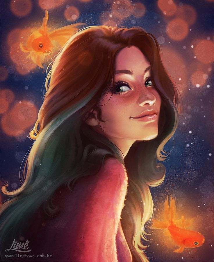 """The Dreamer"" - Amanda Duarte {figurative art female head character woman face portrait digital drawing}"