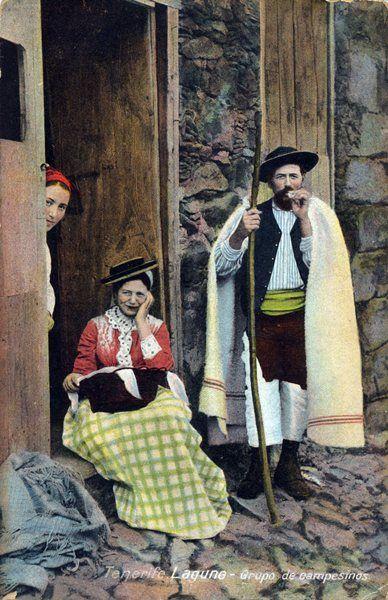Mujer y hombre de Tenerife 1890-1895