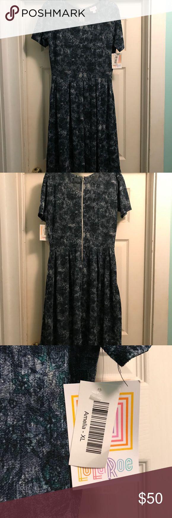 LuLaRoe Amelia Dress NWT Size XL LuLaRoe Amelia Dress NWT Size XL LuLaRoe Dresses Midi